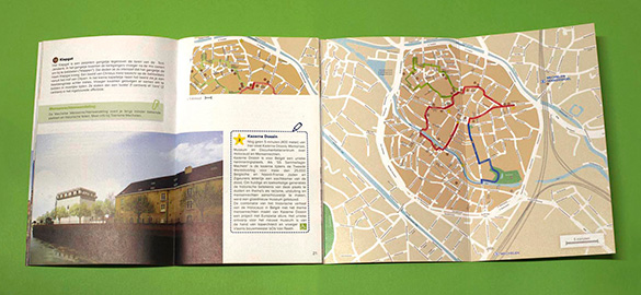Brochure and map (open)